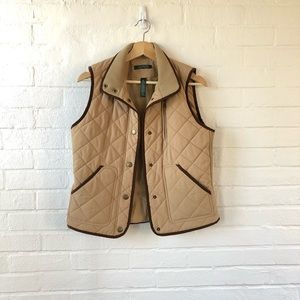 Lauren Ralph Lauren Tan Puffy Vest